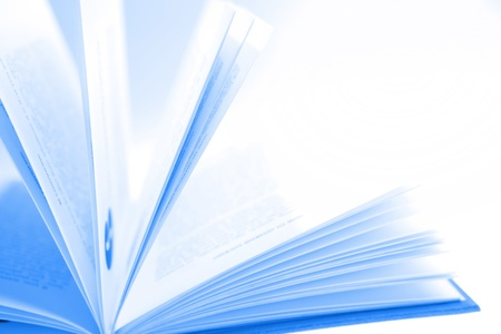 publication: Closeup of open book pages Stock Photo