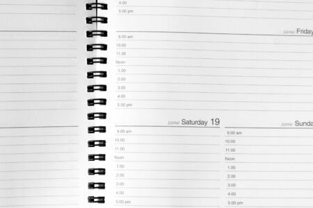 Closeup of pages in diary photo