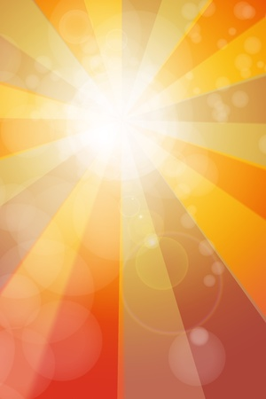 Bright abstract sun burst background photo