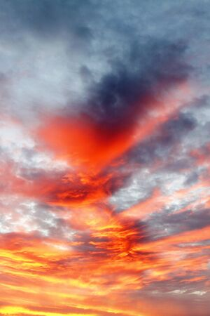 dramatic sky: Bright colors in dramatic sky