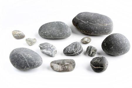 white pebble: Closeup of rocks on plain background