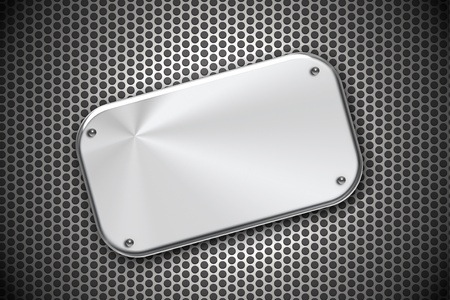 Steel plate on grill pattern photo
