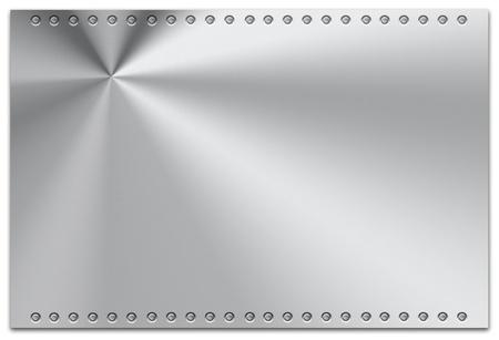 brushed aluminum: Steel plate on plain background