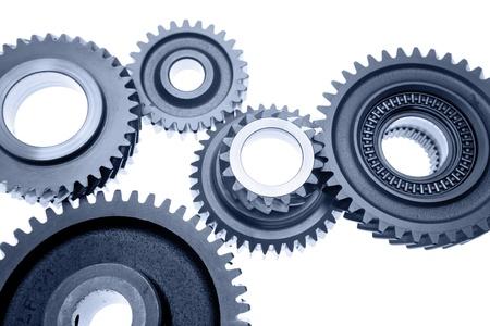cogwheels: Group of cogwheels binding together