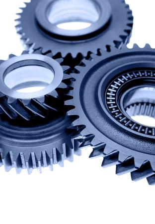 Closeup of three metal gears Stock Photo - 12196186