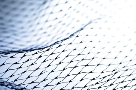 redes pesca: Primer plano de red de pesca
