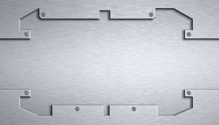 steel background: Steel plating. Copy space Stock Photo