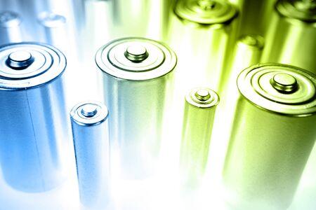 throwaway: Closeup of batteries. Studio shot