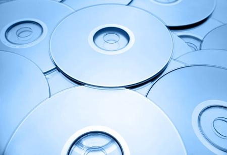 Closeup of compact discs
