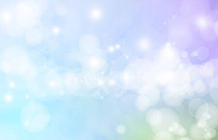dreamy: Bright blurs on blue background Stock Photo