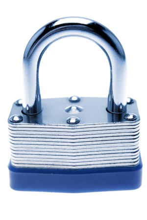 unopen: Padlock on plain background