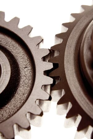 meshing: Two gears meshing together