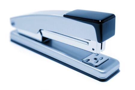 staplers: Stapler on plain background Stock Photo