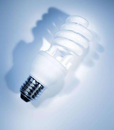 Power saving light bulb closeup photo