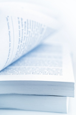 Closeup of open book pages  photo