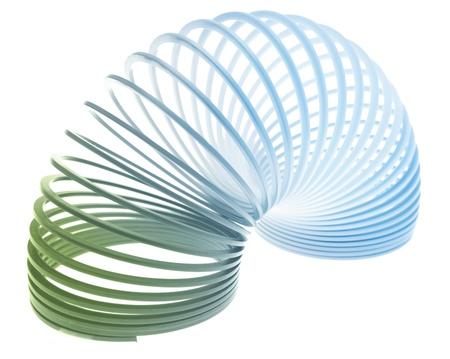 elasticidad: Primavera en el fondo liso