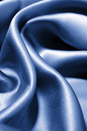 Folds in blue silk photo
