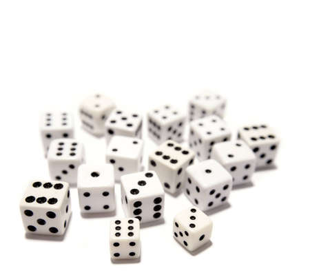 Dice on plain background Stock Photo - 12522946