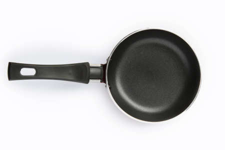 Frying pan on plain background Stock Photo - 12523108