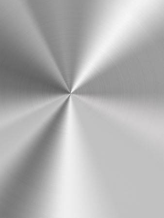 brushed: Shiny stainless steel metal background Stock Photo