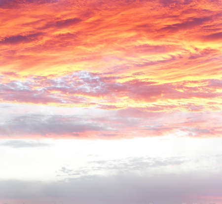 Bright orange sunset sky  Copy space Stock Photo - 12523081