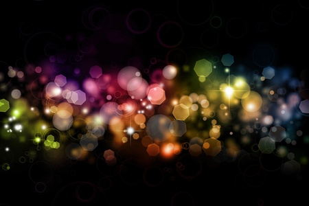Abstract color blurs on dark background photo