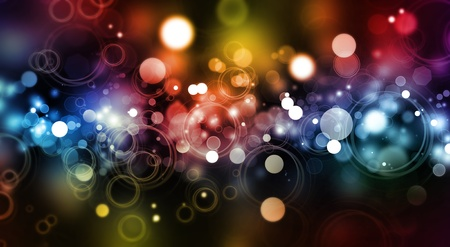 rainbow colours: Abstract color blurs on dark background
