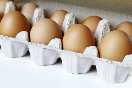 Closeup of eggs in carton Stock Photo - 12876282