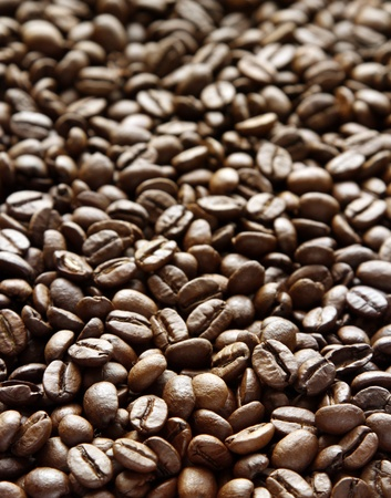 caffiene: Closeup of coffee beans