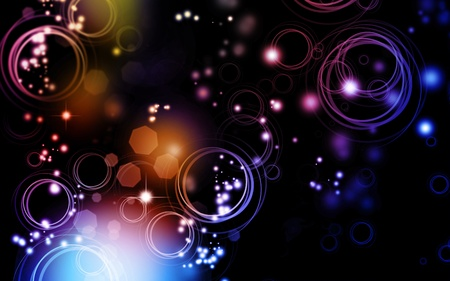 blurs: Abstract color blurs on dark background