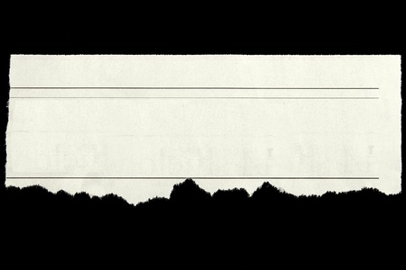 newsprint: Newspaper clipping on black background