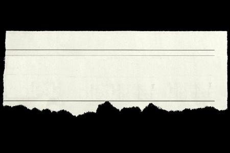 clippings: Recorte de peri�dico sobre fondo negro