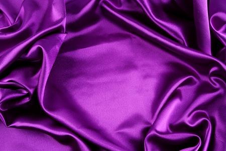 silky: Closeup of purple silk fabric Stock Photo