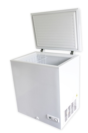 Freezer on plain background photo