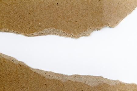 larmes: D�chir� trou dans l'espace de copie papier Banque d'images