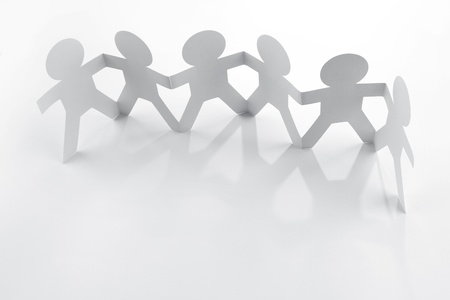 group chain: Group of people holding hands