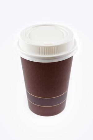 throwaway: Coffee cup on plain background