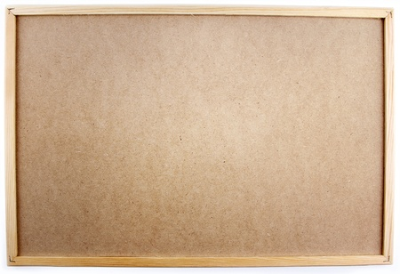 corkboard: Notice board on plain background Stock Photo