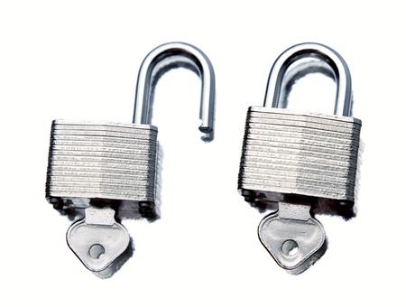 locks: Padlocks on plain background
