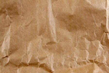 Closeup of brown wrinkled paper photo