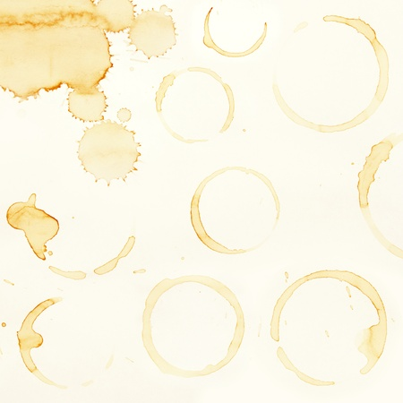 Coffee stains on plain paper Stock Photo - 13417226