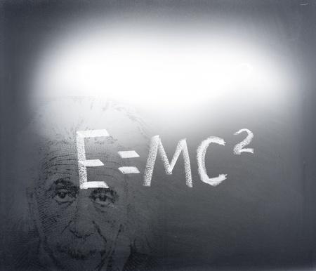 Albert Einstein and his theory photo