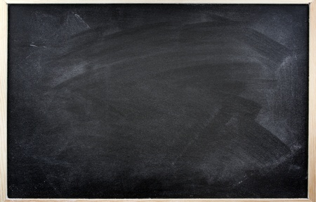Rubbed out chalk on blackboard Stock Photo