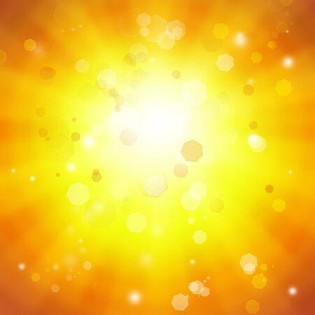 impact: Bright yellow and orange explosion Stock Photo