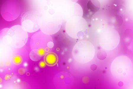 Yellow blurs on purple tone background photo