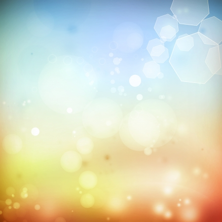 Abstract blue and orange tone background photo