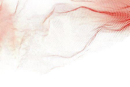 Closeup of netting on plain background photo
