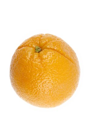 unpeeled: One unpeeled orange on plain background Stock Photo