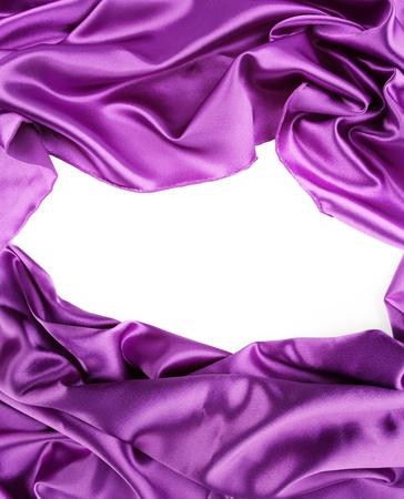 purple silk: Closeup of purple silk fabric on white background
