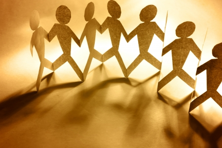 Group of people holding hands Stock Photo - 14028483